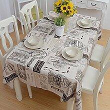GL&G Einfache Mode Tischdecke Tischdecke, für Innen-Couchtisch, Schreibtisch, Tisch Tischdecke, Mehrzweck Verschleiß-resistent praktischen Staub Abdeckung Tuch,A,140*140cm