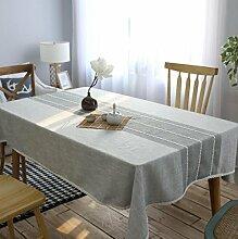 GL&G Einfache moderne Streifen Küche Esstisch Top Dekoration Tuch Tischfamilie staubdicht / Antifouling Tischdecke Mehrzweck drapieren Staubtuch,60*60cm*2pcs
