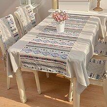 GL&G Europäische Stil Spitze Spitze Baumwolle Leinen Tischdecke dekoriert Tischdecken, Outdoor Picknick Matten, multifunktionale Staub Abdeckung Tuch,A,140*180cm