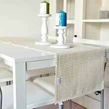 GL&G Europäischen Stil einfach Baumwolle Tischläufer Isolierung Pads Home Dekoration Mehrzweck decken Tuch Schlafzimmer Bett Läufer,N,35*180cm