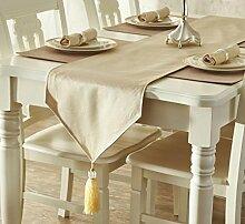 GL&G Europäischen Stil geometrischen Muster Tischdecke Tischläufer moderne Mode wasserdichte Tischmatte Hause Dekoration Bett Läufer,B,35*200cm