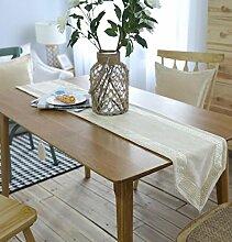 GL&G Europäischen Stil moderne Mode Tabelle Läufer luxuriösen ländlichen Esstisch Tuch Staub und Antifouling Home Dekoration Bed Läufer,30*220cm