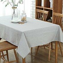 GL&G Europäischer einfacher Couchtisch Baumwolle und Leinen Tischtücher, Home Hotel wasserdichte Tischdecke Tuch Tischdecken, Picknick Matten hochwertige Tischdecken,C,130*305cm
