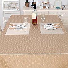GL&G European-style High-End-Staubtuch atmungsaktive Tischdecke, gelten für den Tisch Couchtisch Tisch Tischdecke Tischdecke, rechteckige einfache Tischdecke,D,100*140CM