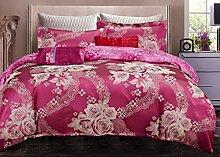 GL&G European Tencel Jacquard-Druck Baumwolle vier Sätze von hochwertigen Heimtextilien Stoff Bettwäsche Quilt Cover × 1PC, Bettwäsche × 1PC, Kissenbezug × 2PCS),J,1.5-1.8 m bed