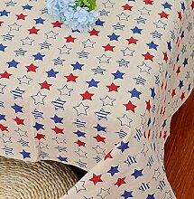 GL&G Farbe Leinen Tischdecke Baumwolle Leinen Tischdecke Abendessen, Sommer und Picknick Tischdecke Lebensdekoration Desktop Deckel Tuch,A,90*90CM