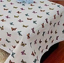 GL&G Flachs bedruckt Tischdecke Modern Einfache Esstisch Stoff Lifestyle Dekorative Tischdecke Decke Tischdecke Mehrzweckabdeckung,A,90*90CM