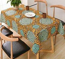 GL&G Folk-custom Cotton Print Life Dekoriert Tischdecke Tischwäsche Küche Waschbar Staubdicht Frostschutz Tischdecke für jeden Anlass,A,140*180cm