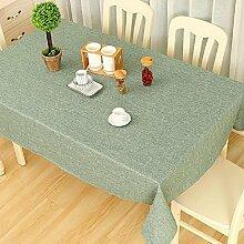 GL&G Hochwertige hochwertige Baumwolle und Leinen reine Farbe Tischdecke Multifunktions-Deckel Tuch, gelten für das Wohnzimmer Couchtisch rechteckige Tisch Tisch Staub Tischdecke,E,140*220Cm