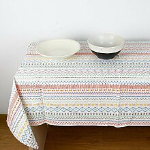 GL&G Hochwertige Leinen Tischdecke Staubdicht / Antifouling Maschinenwäsche, Abendessen, Sommer und Picknick Tischdecken Verschiedene Größen,A,140*100cm