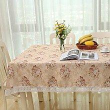 GL&G Hochwertige Polyester Staubdichte leicht zu reinigen Tischdecke Tischdecke für Haus Restaurant, Hotel, Outdoor Picknick-Matte,A,140*140CM
