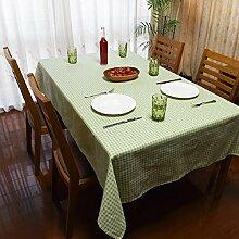 GL&G Home Leinen Tischdecke Tischdecke für Outdoor Picknick Matten, Indoor Esstisch, Schreibtisch, Couchtisch, multifunktionale Staub Tischdecke,A,60*60cm