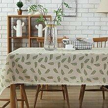 GL&G Home neue Leinen Tuch Druck Tischdecken, Heimat Persönlichkeit Europäische einfache Tischdecken, Couchtisch Tisch Tisch Staub Tuch tragbare Tischdecke,A,140*140cm