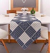 GL&G Japanischen Stil Doppelschicht Leinen Dreieck Tisch Läufer Flachs Party nach Hause Dekoration Tuch Rechteck Bett Runner,30*220cm
