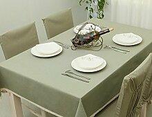 GL&G Koreanische Art Baumwolllebendekoration Tischdecke Tischdecke Mehrzweckabdeckung Tuch staubdicht Abdeckung Tischdecke,B,140*160cm