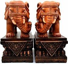 GL&G Maskottchen Elefant Dekoration High-End Wohnzimmer Dekoration Studienbüro Tischplatte Szenen Sammler Ornamente heiraten Geschenk,B,22*15*28cm