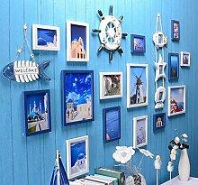 GL&G Mittelmeer kreative Kombination Rahmen Wand Living Zimmer Restaurant Foto Wand moderne einfache Schlafzimmer Foto Home Dekoration,A