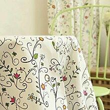 GL&G Moderne einfache frische frische Blumen Tischdecke Baumwolle Leinen Tischdecke Lebensdekoration Tischdecke Mehrzweck-Deckel Tuch,A,140*220CM