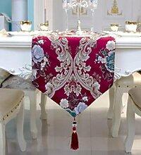 GL&G Moderne einfache Tuch europäischen Stil Couchtisch Esstisch Dekoration Tischläufer ländlichen Hause Schlafzimmer Bett Läufer Bett Handtuch,B,33*300cm