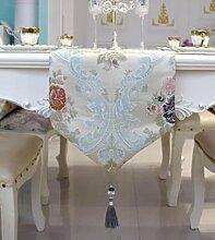 GL&G Moderne einfache Tuch europäischen Stil Couchtisch Esstisch Dekoration Tischläufer ländlichen Hause Schlafzimmer Bett Läufer Bett Handtuch,C,33*300cm