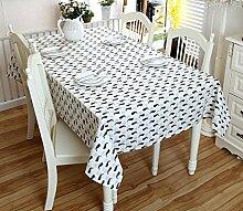 GL&G Moderne Flachs Tischdecke Einfache Couchtisch Tuch Spitze Tischdecke Leben Dekoration Desktop Mehrzweck Abdeckung Stoff,A,140*180CM