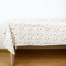 GL&G Moderne pastorale Stil Tischdecke Baumwolle und Leinen Material Deckel Tuch, Blumenmuster Restaurant im Freien Picknick-Matte Couchtisch Tuch, Luxus praktische Tischdecke,D,140*200cm