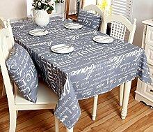 GL&G Modernes einfaches Baumwoll dickeres Tischtuch Segeltuch Tischdecke Graues Kaffeetisch Tuch Staubdichtes Antifouling Mehrzweck Abdeckungs Tuch Abdeckungs Tuch,140*140CM
