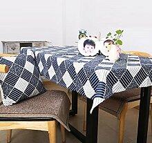 GL&G Multifunktionale Staub Tischdecke Tischdecke, leicht zu reinigen und zu tragen praktische, Outdoor-Picknick-Matten, europäischen klassischen Stil Tischdecke,A,95*140cm