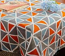 GL&G Neue geometrische dreieckige Gitter Tischdecke moderne einfache Couchtisch Tischdecke home Dekoration multifunktionale Abdeckung Tuch,A,140*140CM