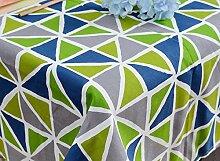 GL&G Neue geometrische dreieckige Gitter Tischdecke moderne einfache Couchtisch Tischdecke home Dekoration multifunktionale Abdeckung Tuch,B,60*60CM