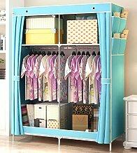 GL&G Non Woven Falten Praktische Portable Clothes Storage Rack Kleiderschrank Kleiderschrank Home Dekoration Finishing,B,69'' *45''