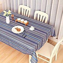 GL&G Outdoor-Picknick-Matratze rechteckige Tischdecke Tischdecke, europäische Streifenmuster Stil, für Couchtisch Esstisch Tisch Tischdecke Multifunktions-Deckel Tuch,F,140*220CM