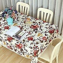 GL&G Pastoral Einfachheit Europäische Stil Blume Tischdecke Tischdecke für Couchtisch Esstisch Abdeckung, Outdoor Picknick-Matte,C,140*180CM