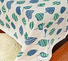 GL&G Pastoral Green Cottage Tischdecke Living Decoration Tischdecke Decke Tischdecke Staubdecke Verwendet: Hochzeit, Restaurant oder Bankett,A,90*90CM