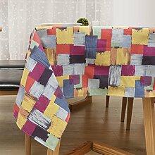 GL&G Tischdecke aus Baumwolle, pastorale Stil Tischdecken , Tisch, Bürotisch Tuch Staub, vielseitig praktische Tisch verschleißfest,A,140*250cm