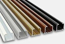 glänzend einläufig Gardinenschiene aus Aluminium