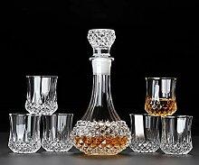 Gläser Dekanter Whisky Glasset Luxus Becher