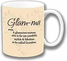 Glam-ma Glamourös Oma Keramik Kaffee Tasse Einzigartige Geschenkidee