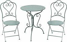 GlamHaus Seychelles Gartenmöbel-Set aus Metall