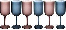 Glamour 6er Set Gläser Frosted Glas 450ml