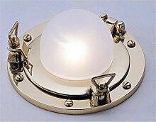 Glanzvolle Deckenlampe LED aus Messing Glas