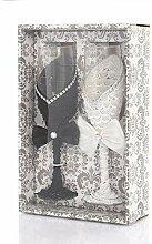 Glas 2 Stück Hochzeit Personalisierte Champagner