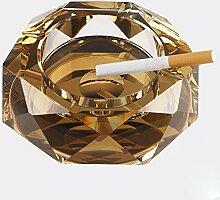 Glas-Aschenbecher / Aschenbecher im europäischen Stil, Mode-Ideen, personalisierte Geschenke, der Trend der multifunktionalen Dekoration ( Farbe : Gold , größe : 20*4CM )