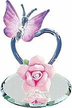 Glas Baron ~ Violett Herz Schmetterling Figur