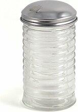 Glas Beehive Zucker Ausgießer w/Seite Klappe