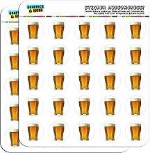 Glas Bier 2,5cm (2,5cm) Scrapbooking, Aufkleber