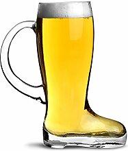 Glas Bierglas Stiefel mit Griff 1,75 Pint-Glas,