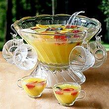 Glas-Bowle-Set, 27Stück, Vintage-Stil mit