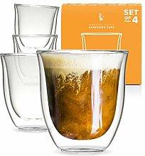 Glas-Cappuccinotassen doppelwandige Kaffeegläser