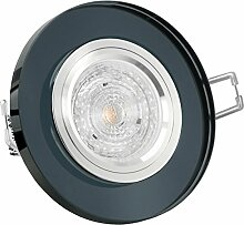 GLAS Decken Einbau-Spot rund, LED Decken-Leuchte